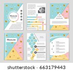 abstract vector layout... | Shutterstock .eps vector #663179443