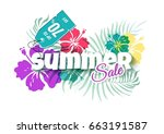 summer sale colorful background ...   Shutterstock .eps vector #663191587