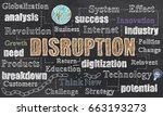 disruption illustration | Shutterstock . vector #663193273
