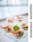 selective focus on spicy prawn... | Shutterstock . vector #663203503