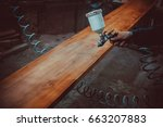 master painter in a factory  ... | Shutterstock . vector #663207883