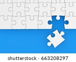 last missing piece to complete... | Shutterstock . vector #663208297