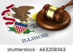 illinois us state law  legal... | Shutterstock . vector #663208363