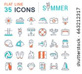 set vector line icons  sign and ... | Shutterstock .eps vector #663212317