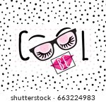 vector illustration of be cool... | Shutterstock .eps vector #663224983