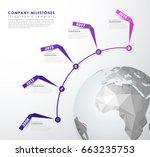 infographic startup milestones... | Shutterstock .eps vector #663235753