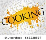 cooking word cloud collage ... | Shutterstock . vector #663238597