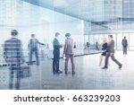 people in a modern office...   Shutterstock . vector #663239203
