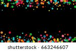 bright multicolored pastel... | Shutterstock .eps vector #663246607
