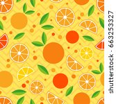seamless pattern with... | Shutterstock . vector #663253327