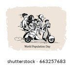 11th july  world population day ... | Shutterstock .eps vector #663257683