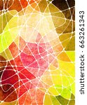 abstract geometric grunge... | Shutterstock . vector #663261343