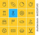 vector illustration of 16 sport ... | Shutterstock .eps vector #663269143