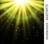 light effect. star burst with... | Shutterstock .eps vector #663276973