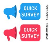 quick survey. two megaphone... | Shutterstock .eps vector #663293323
