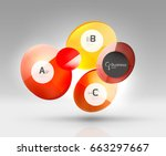 circle geometric abstract... | Shutterstock .eps vector #663297667