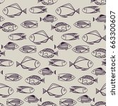 fish vector illustration.... | Shutterstock .eps vector #663300607