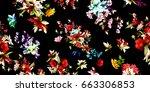 wide vintage seamless... | Shutterstock .eps vector #663306853