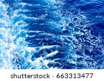 ship's wake close up | Shutterstock . vector #663313477