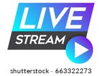 live stream vector design