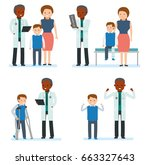 caring for the health of the... | Shutterstock .eps vector #663327643