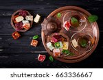 bowl with various pieces of... | Shutterstock . vector #663336667