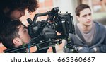 behind the scene. actor in... | Shutterstock . vector #663360667
