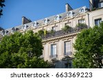 paris  buildings  typical...   Shutterstock . vector #663369223