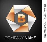 letter b logo symbol in the...
