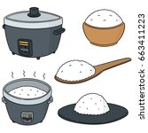 vector set of rice | Shutterstock .eps vector #663411223