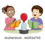 illustration of kids watching a ... | Shutterstock .eps vector #663416743