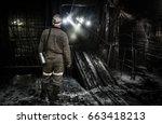Miner In A Coal Mine. Mining