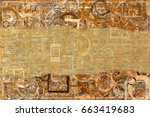abstract pattern brown color... | Shutterstock . vector #663419683