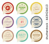 badges and labels collection.... | Shutterstock .eps vector #663426613