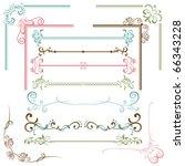 design elements set.... | Shutterstock .eps vector #66343228