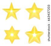 set star icon  golden star on...   Shutterstock .eps vector #663437203
