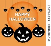 halloween background and... | Shutterstock .eps vector #663441937