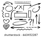 arrows circles and abstract... | Shutterstock .eps vector #663452287