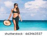 luxury travel beach vacation... | Shutterstock . vector #663463537