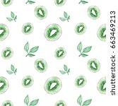 watercolor hand drawing kiwi... | Shutterstock . vector #663469213