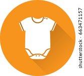 bodysuit icon. vector. white...   Shutterstock .eps vector #663471157