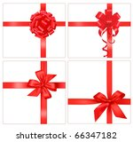 collection of red gift bows... | Shutterstock .eps vector #66347182