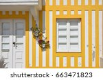 detail of the house in famous... | Shutterstock . vector #663471823