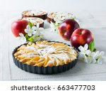 Homemade Pie With Red Apples...