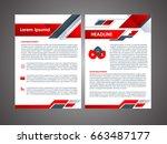 business brochure flyer design | Shutterstock .eps vector #663487177