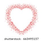 blank colorful symbol valentine ... | Shutterstock . vector #663495157