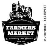 vector vintage tractor | Shutterstock .eps vector #663509557
