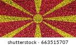 flag of macedonia | Shutterstock . vector #663515707