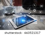business and technology concept.... | Shutterstock . vector #663521317