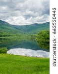 landscape of lake with... | Shutterstock . vector #663530443